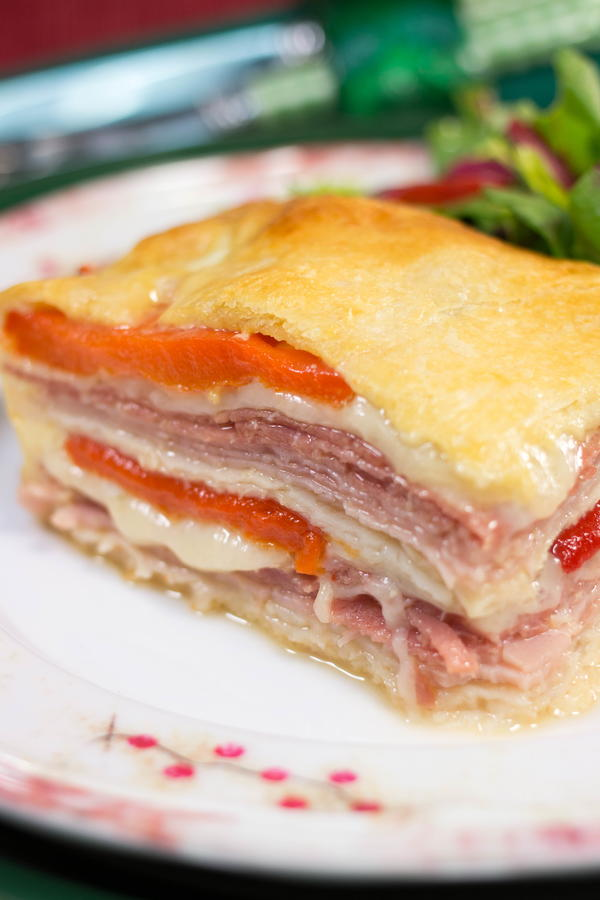 Layered Italian Crescent Roll Bake