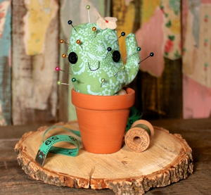 Smiling Succulent DIY Pincushion
