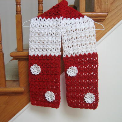 Candy Cane Christmas Scarf Pattern Favecrafts