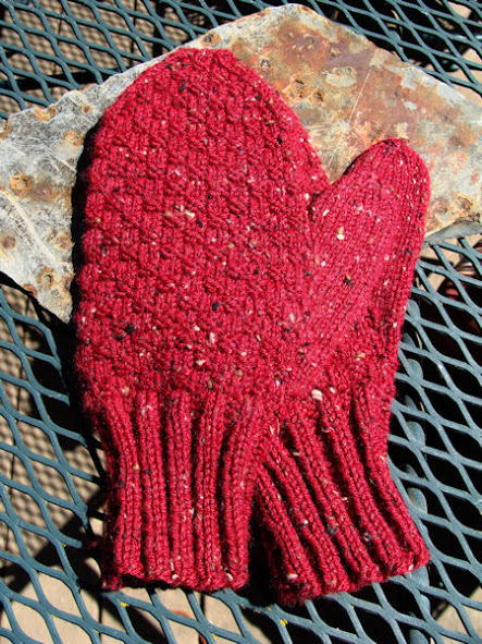 Red Brick Mens Knit Mittens