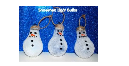Snowman Light Bulb Ornament Allfreechristmascrafts Com