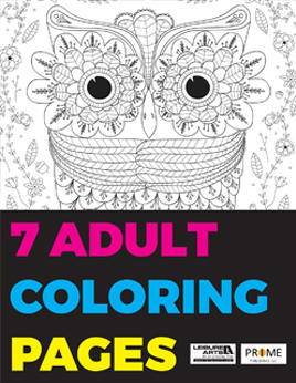 7 Adult Coloring Pages Free EBook