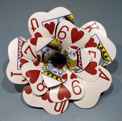 Poker Card Flower Hair Clip