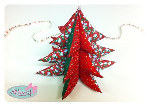 3D Christmas Tree Ornaments | AllFreeSewing.com