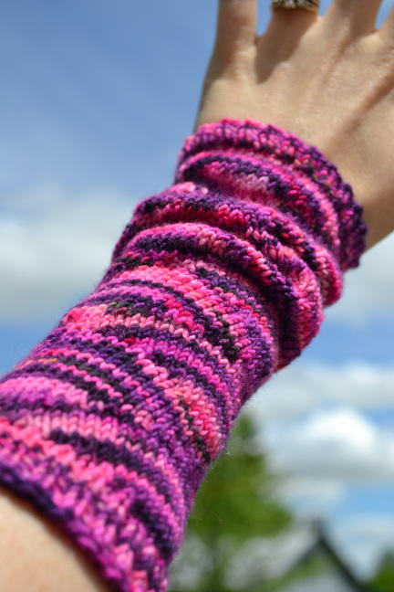 Fun and Feminine Knit Arm Warmers