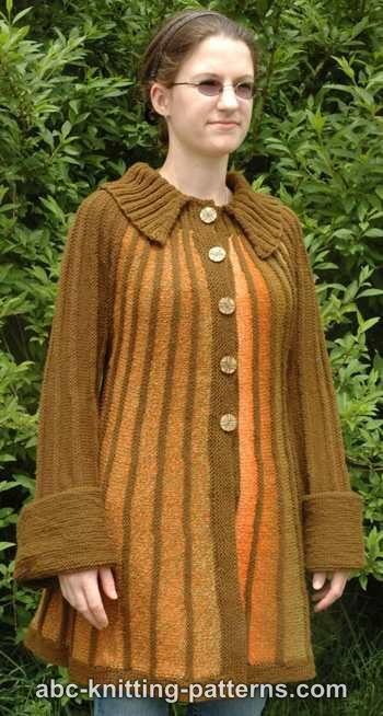 Shepherd Knitting Patterns Free : Autumn Dreams Jacket AllFreeKnitting.com