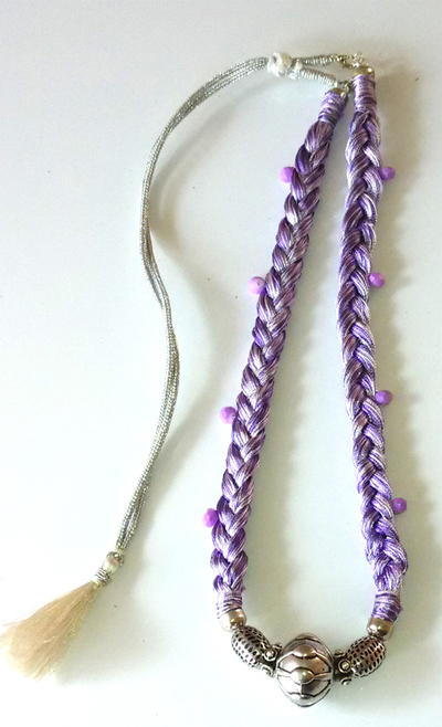 crafts necklace how silk thread to handmade make the