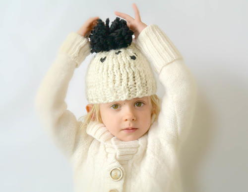 Adorable Chunky Pom Knit Toddler Hat Patten | FaveCrafts.com