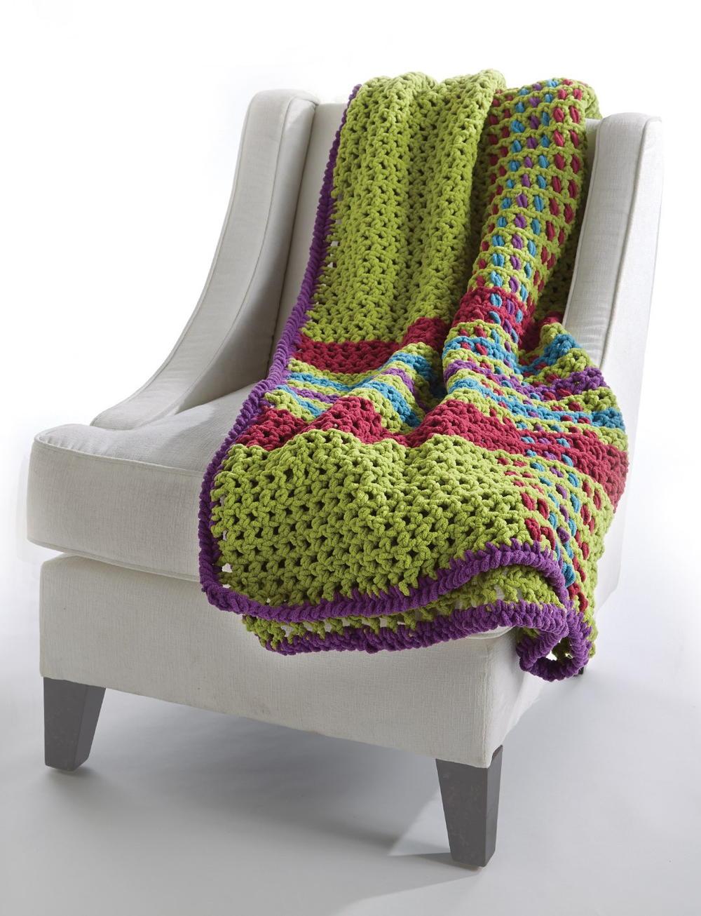 Homey Plaid Crochet Blanket Allfreecrochetafghanpatterns Com