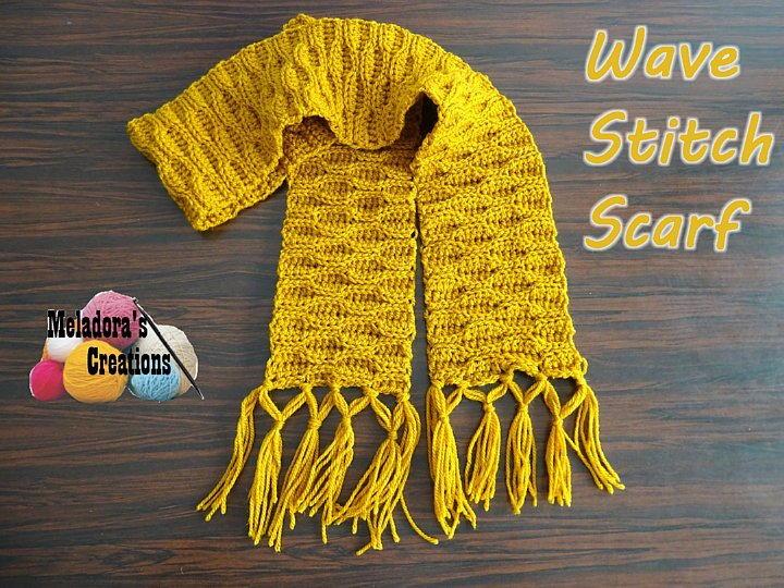 Wave Stitch Scarf Allfreecrochet