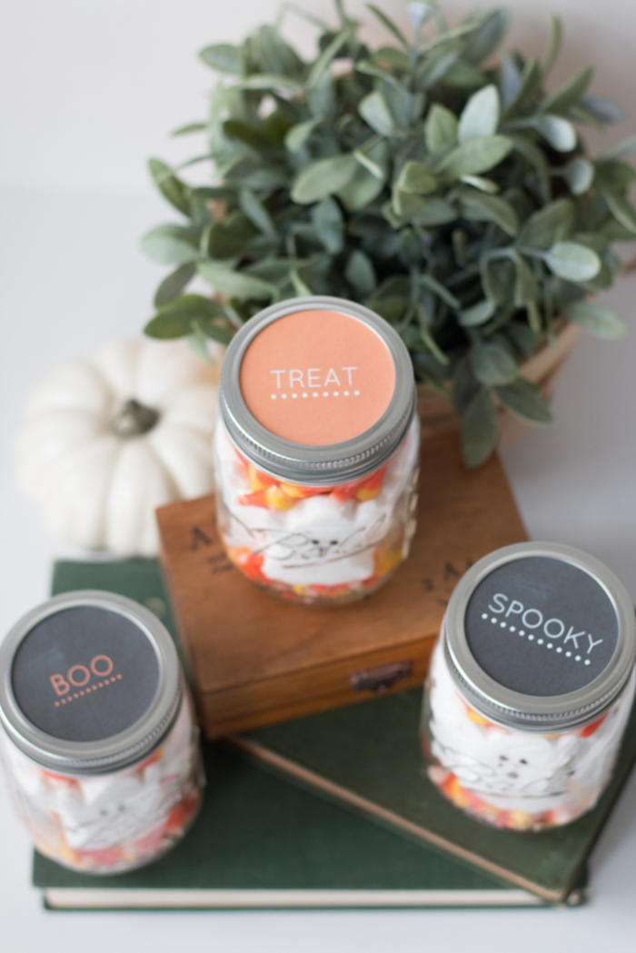 halloween mason jar treats free printable labels