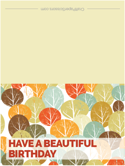 Fall Forest Printable Birthday Card