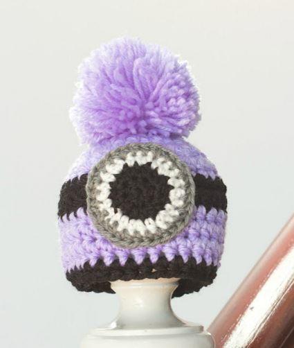 Evil Minion Crochet Hat Pattern | AllFreeKidsCrafts.com