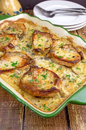 Baked Pork Chops and Scalloped Potatoes