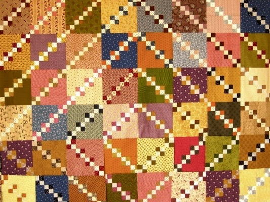 Double Four Patch Quilt Pattern Favequilts Com