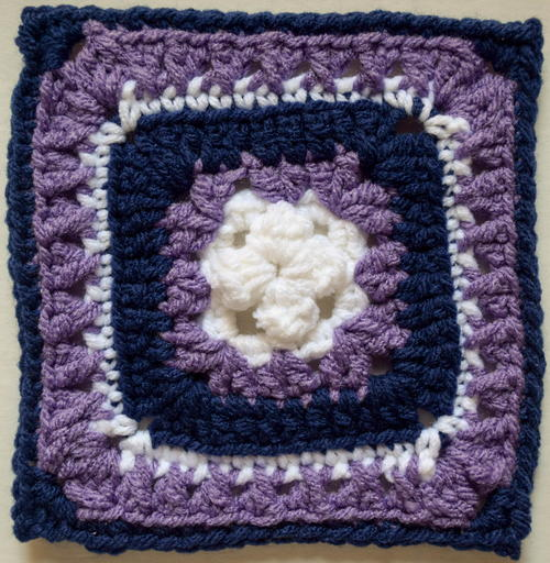 Raised Bunchberry Granny Square