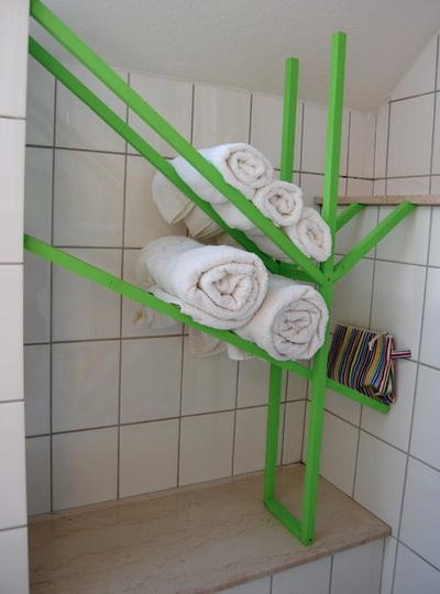 Unexpected DIY Bathroom Rack