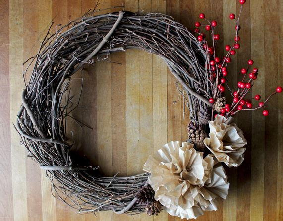 Easiest Winter Wreath