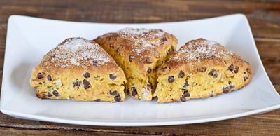 Chocolate Chip and Pecan Pumpkin Scones