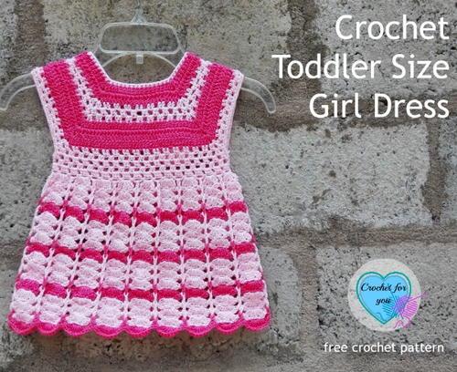 Crochet Toddler Size Girl Dress Pattern AllFreeCrochet Impressive Free Crochet Toddler Dress Patterns