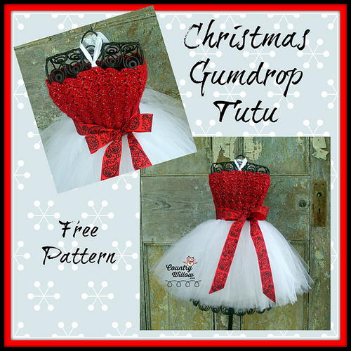 Christmas Gumdrop Tutu Pattern | AllFreeCrochet.com