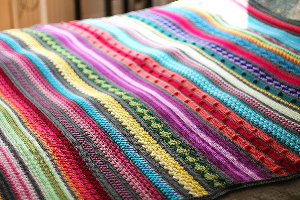Rainbow Sampler Crochet Blanket Pattern | FaveCrafts.com