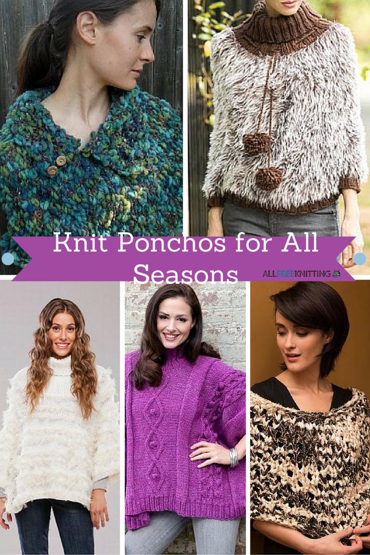 20+ Unbelievable Poncho Patterns | AllFreeKnitting.com