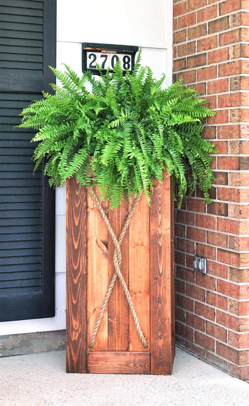 DIY Wooden Crate Garden Planter