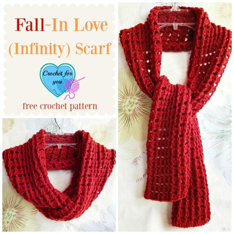 Fall In Love Infinity Scarf Allfreecrochet