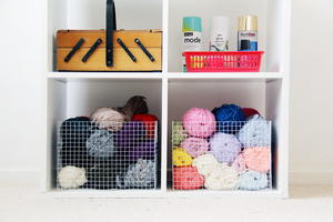 DIY Wire Mesh Storage Baskets
