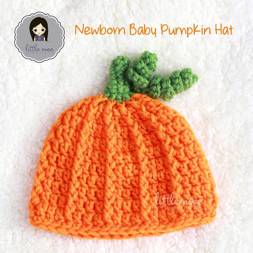Newborn Baby Pumpkin Hat | AllFreeCrochet.com