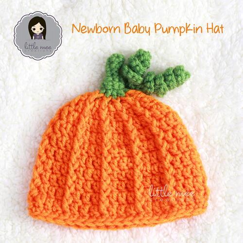 Newborn Baby Pumpkin Hat Allfreecrochet