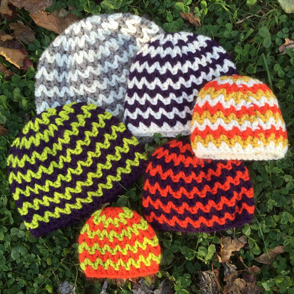 Quick and Simple Crocheted Chevron Hat | AllFreeCrochet.com