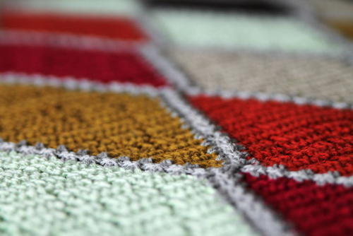 Spicy Diamond Crochet Blanket
