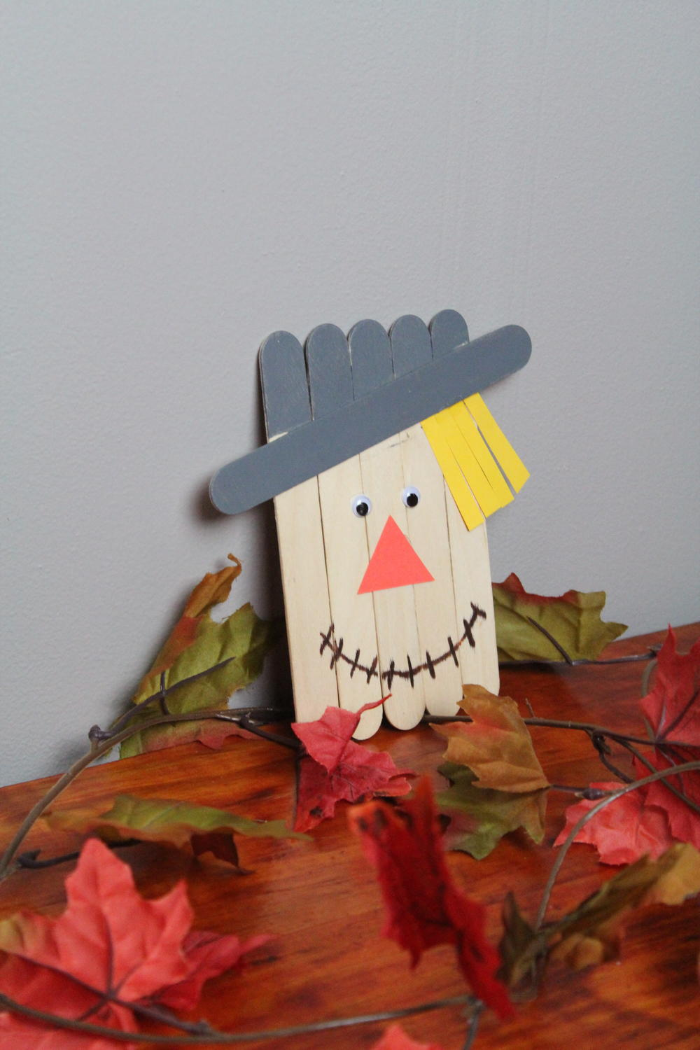 DIY Popsicle Stick Scarecrow