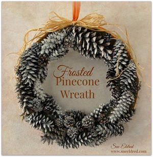 frosted pinecone diy christmas wreath_1 - Diy Christmas Wreath