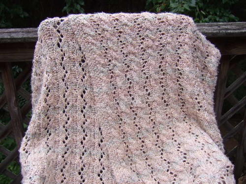 Reversible Cable And Lace Afghan Allfreeknitting