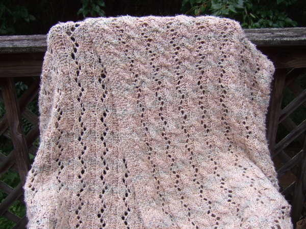 Reversible Cable And Lace Afghan Allfreeknitting Com