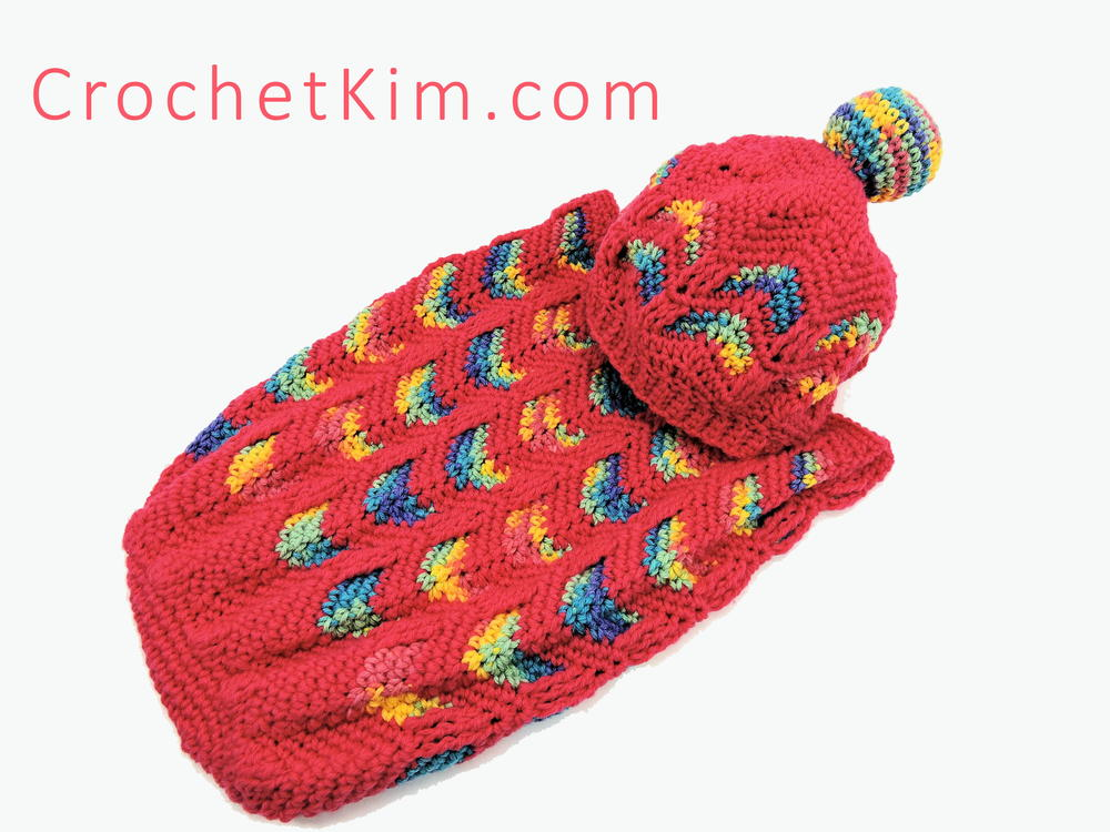 Circus Love Crochet Baby Cocoon and Hat | FaveCrafts.com