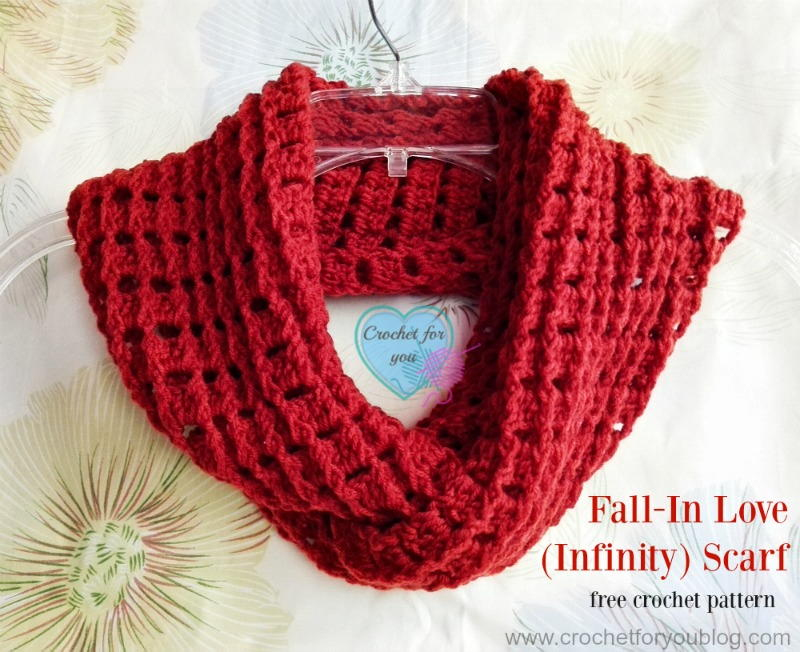 Crochet Infinity Scarf Pattern For Child : Fall In Love Crochet Infinity Scarf Pattern FaveCrafts.com