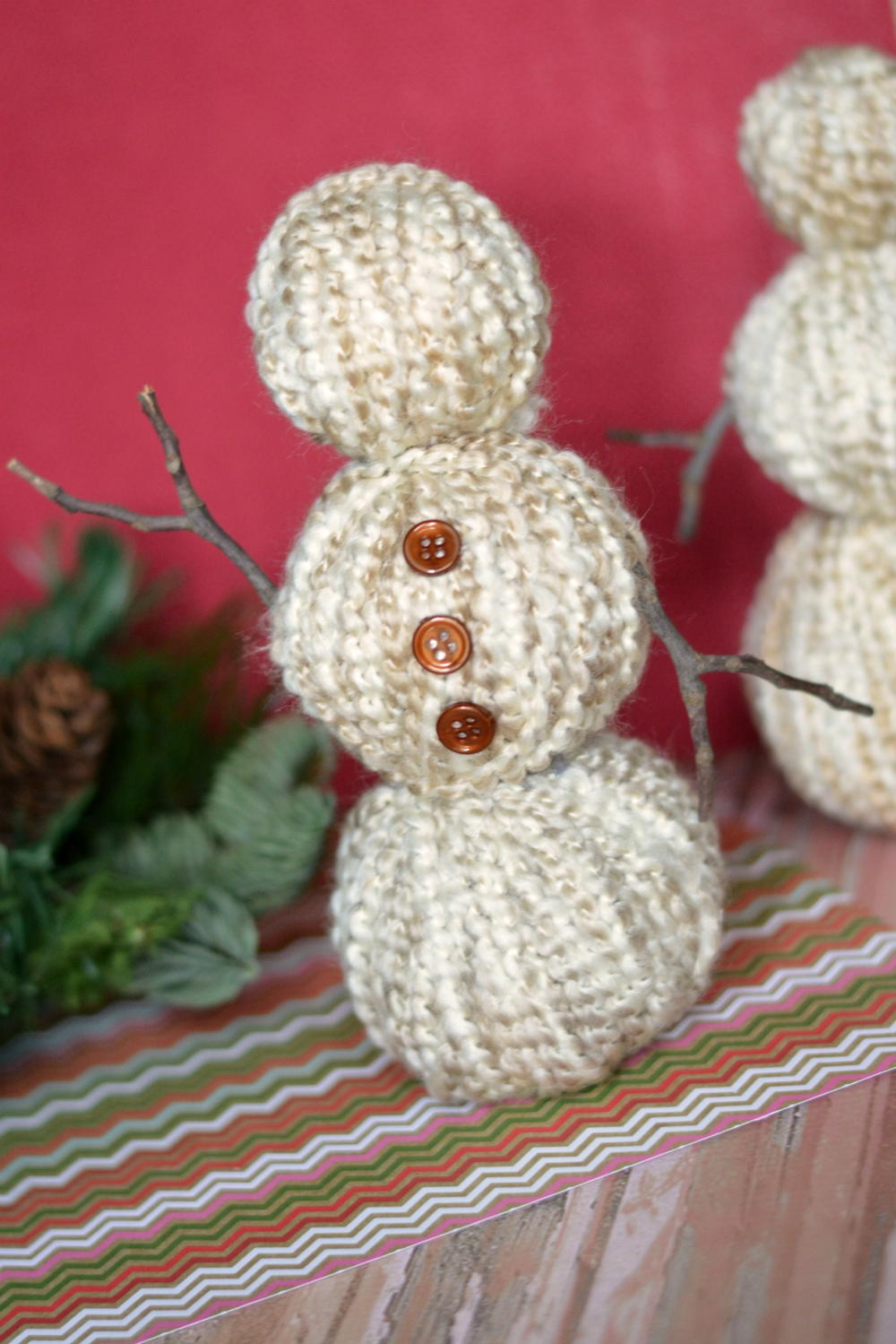 Diy yarn wrapped snowman for All free holiday crafts
