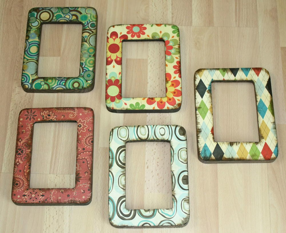 Easy decoupage frames for Making a large picture frame