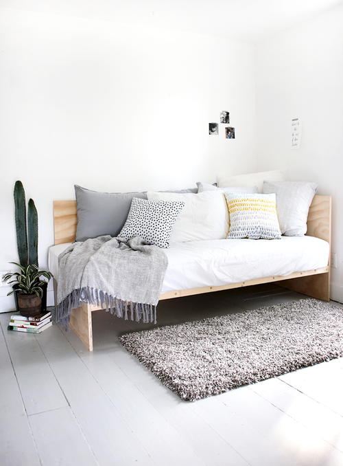Modern DIY Plywood Daybed