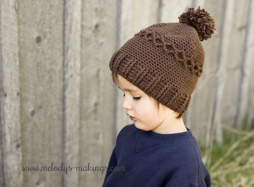 Slouchy Knit Diamond Cap