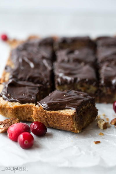 Cranberry Chocolate Chunk Blondies