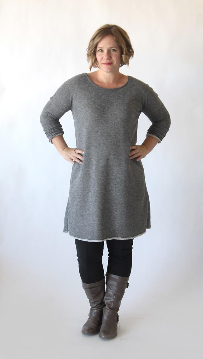 Flattering Sweater Dress Pattern Allfreesewing Com