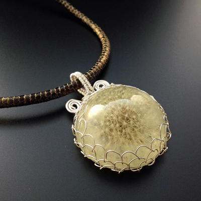 How to make and wire wrap a dandelion cabochon pendant how to make and wire wrap a dandelion cabochon pendant aloadofball Choice Image