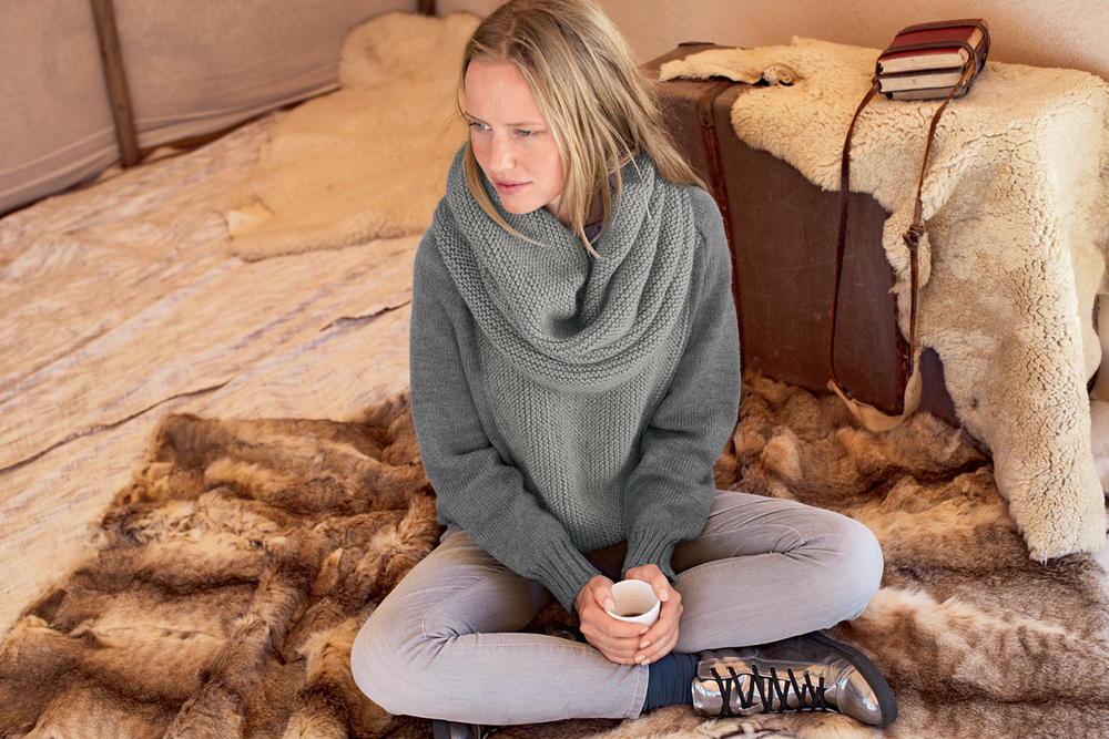 Fireside Knit Maxi Snood Allfreeknitting