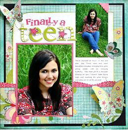 """Finally a Teen"" Scrapbook Layout"