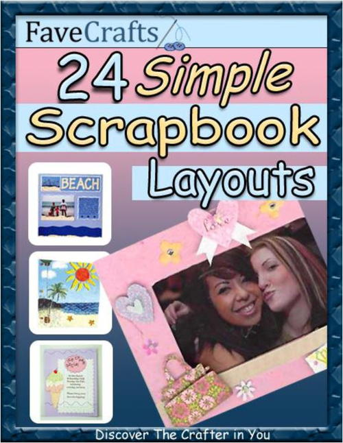 24 Simple Scrapbook Layouts
